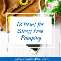 Pumping bag items for stress free pumping